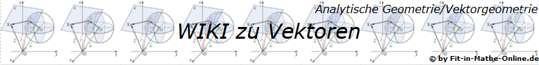 WIKI zum Thema Vektoren in der analytischen Geometrie/Vektorgeometrie/© by www.fit-in-mathe-online.de)