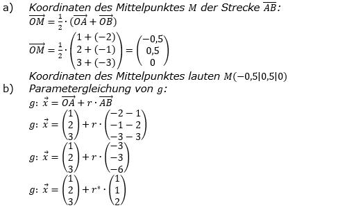 Vektorgeometrie Vermischte Aufgaben - Training Lösungen zum Aufgabensatz 01 Blatt 01 Bild A0101L02/© by www.fit-in-mathe-online.de