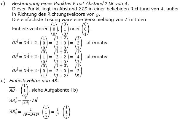 Vektorgeometrie Vermischte Aufgaben - Training Lösungen zum Aufgabensatz 01 Blatt 01 Bild A0101L03/© by www.fit-in-mathe-online.de