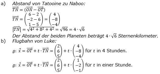 Vektorgeometrie Vermischte Aufgaben - Training Lösungen zum Aufgabensatz 02 Blatt 01 Bild A0102L02ab/© by www.fit-in-mathe-online.de