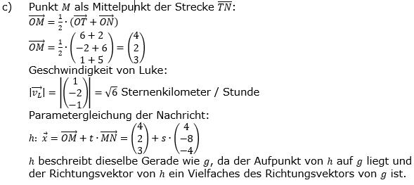 Vektorgeometrie Vermischte Aufgaben - Training Lösungen zum Aufgabensatz 02 Blatt 01 Bild A0102L02c/© by www.fit-in-mathe-online.de