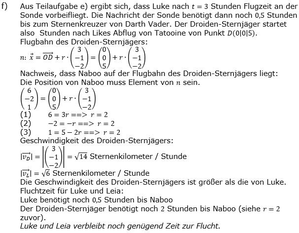 Vektorgeometrie Vermischte Aufgaben - Training Lösungen zum Aufgabensatz 02 Blatt 01 Bild A0102L02f/© by www.fit-in-mathe-online.de