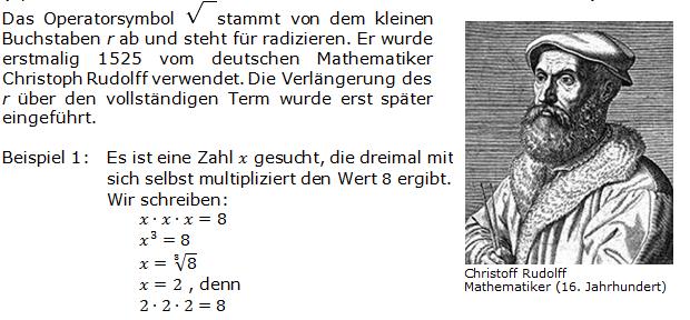 WIKI zu Wurzeln Bild 02/© Fit-in-Mathe-Online.de
