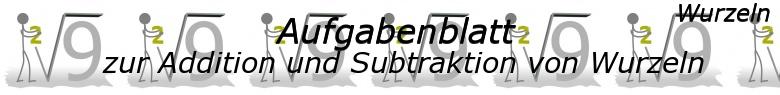 Wurzel von Zahlen und Variablen - Grundlagen - Level 1 - Blatt 1/© by www.fit-in-mathe-online.de