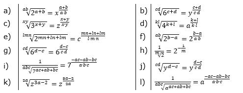 Potenzdarstellung von Wurzeln Lösungen zum Aufgabensatz 3 Blatt 02/© by www.fit-in-mathe-online.de