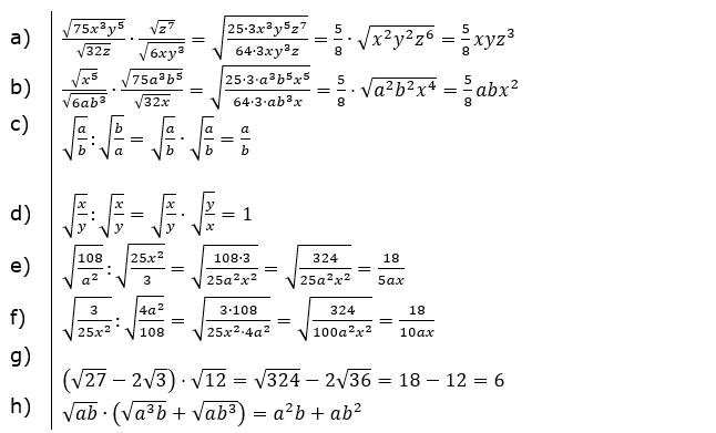 Vermischte Aufgaben mit Wurzeln Lösungen zum Aufgabensatz 3 Blatt 01x© by www.fit-in-mathe-online.de