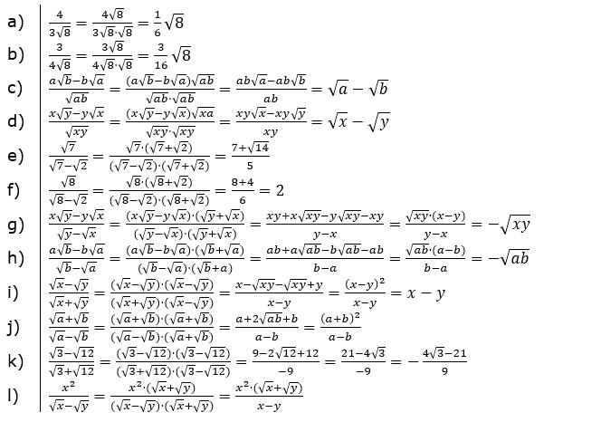 Vermischte Aufgaben mit Wurzeln Lösungen zum Aufgabensatz 1 Blatt 02© by www.fit-in-mathe-online.de
