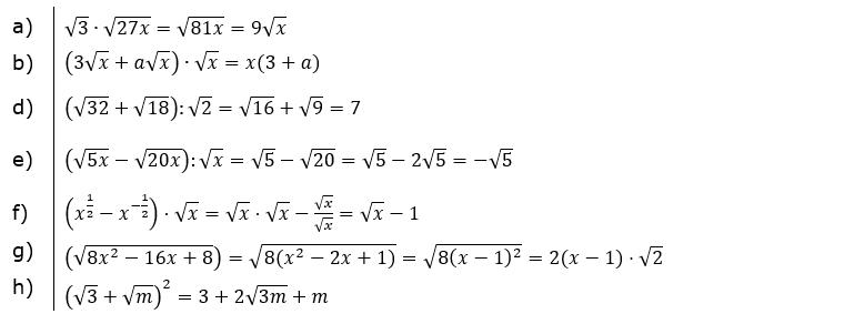 Vermischte Aufgaben mit Wurzeln Lösungen zum Aufgabensatz 4 Blatt 02© by www.fit-in-mathe-online.de