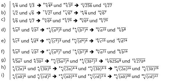 Vermischte Aufgaben mit Wurzeln Lösungen zum Aufgabensatz 4 Blatt 04© by www.fit-in-mathe-online.de