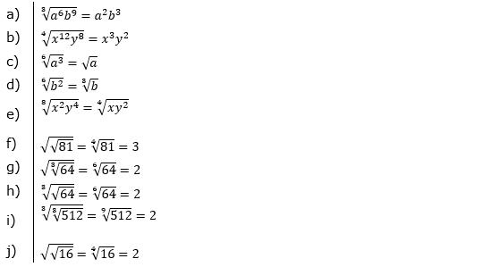 Vermischte Aufgaben mit Wurzeln Lösungen zum Aufgabensatz 2 Blatt 05© by www.fit-in-mathe-online.de