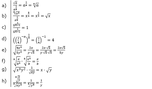 Vermischte Aufgaben mit Wurzeln Lösungen zum Aufgabensatz 4 Blatt 05© by www.fit-in-mathe-online.de