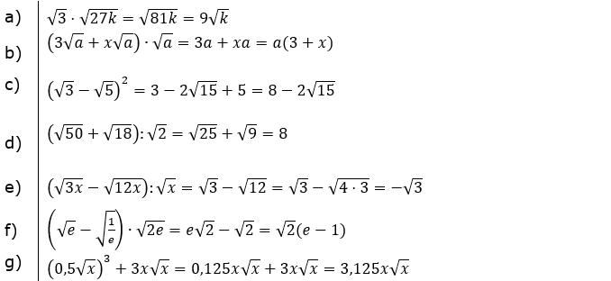 Vermischte Aufgaben mit Wurzeln Lösungen zum Aufgabensatz 3 Blatt 06/© by www.fit-in-mathe-online.de