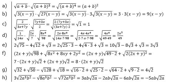 Vermischte Aufgaben mit Wurzeln Lösungen zum Aufgabensatz 1 Blatt 08© by www.fit-in-mathe-online.de