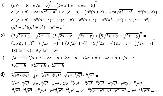 Vermischte Aufgaben mit Wurzeln Lösungen zum Aufgabensatz 2 Blatt 08© by www.fit-in-mathe-online.de