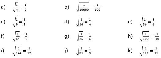 Wurzeln von Zahlen und Variablen Lösungen zum Aufgabensatz 1 Blatt 1/2 Grundlagen/© by www.fit-in-mathe-online.de