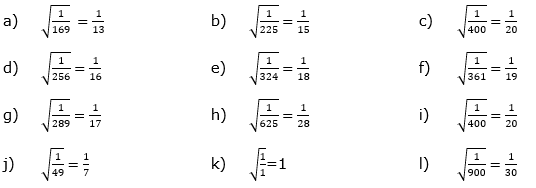 Wurzeln von Zahlen und Variablen Lösungen zum Aufgabensatz 2 Blatt 1/2 Grundlagen/© by www.fit-in-mathe-online.de