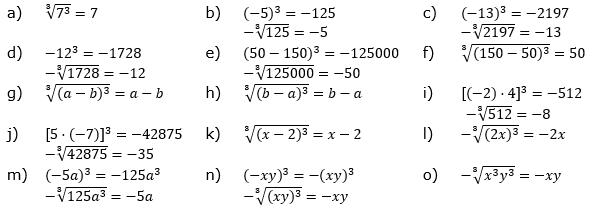 Wurzeln von Zahlen und Variablen Lösungen zum Aufgabensatz 6 Blatt 2/1 Fortgeschritten/© by www.fit-in-mathe-online.de
